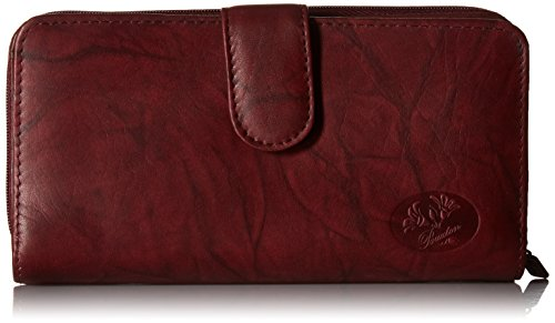 5 French Purse Wallet (Heiress Ensemble Clutch Wallet, Burgundy, One Size)