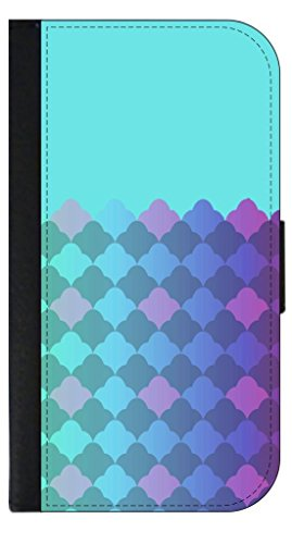 (COLORBLOCKED LIGHT BLUE Gradient Damask Pattern TM Case for the Apple Ipad Air Version 1 Black PU Leather and Suede Case Made in the U.S.A.)