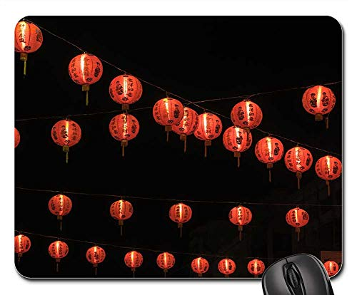Mouse Pads - Chinese New Year Red Light New Year Eve China