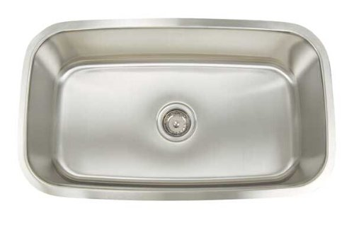 Artisan AR 3118 D9-D Premium Collection 16-Gauge Undermount Single Basin Stainless Steel Kitchen - Sink Undermount Artisan