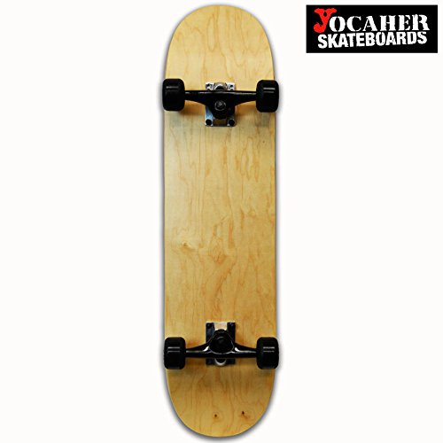 Yocaher Pro Blank Complete Skateboard - Natural woods (Assembled, 8.0