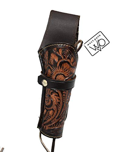Open Road Goods 38/357 Caliber Leather Gun Holster - Authentic Handmade (Brown, Cross Draw) -