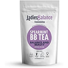 Organic Spearmint BB Tea by LadiesBalance with Licorice and White Peony Hair & Acne Control Blend with Licorice and Peony (2oz) Organic & All Natural Spearmint Leaves