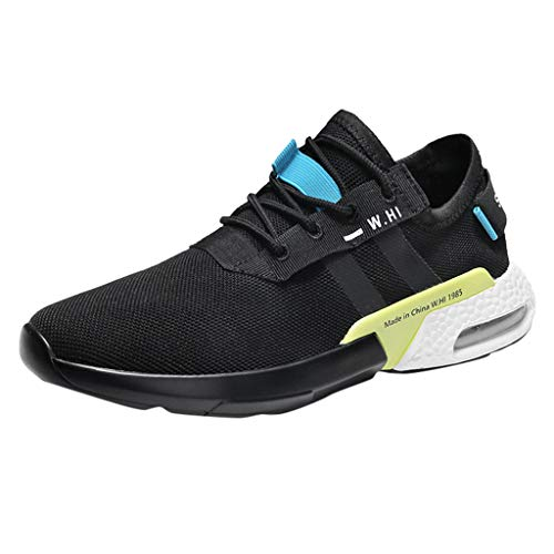 Fashion Casual Outdoor Sneakers Running Shoes,Men's Summer Hollow Mesh Breathable Non-Slip Wear-Resistant Sneakers Blue