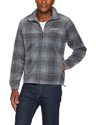 Columbia Men's Steens Mountain Printed Jacket, Graphite Buffalo, L by Columbia