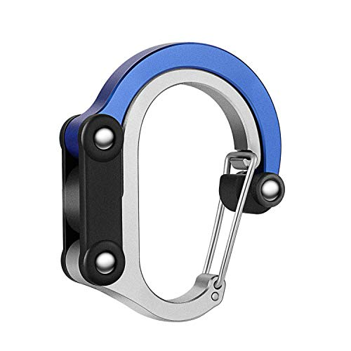YUYANBL Hybrid Gear Clip - Carabiner Rotating Hook Clip Non-Locking Strong Clips for Camping Fishing Hiking Travel Backpack Outdoor Aluminum D Ring Hooks -