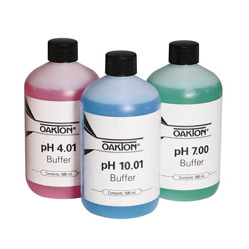 Oakton WD-05942-10 Oakton Calibration Buffer Pack, 500 mL Bottle Each of 4.01, 7.00 and 10.00 Standards
