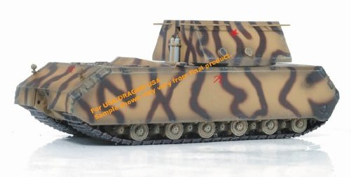 Germany Super Heavy Tank Maus w/Mock-up Weight Turret (1:72); - Turret Markings