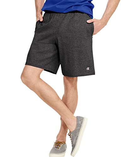 Champion Men's Jersey Short With Pockets, Granite Heather, X-Large