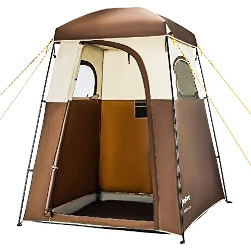 (KingCamp Oversize Outdoor Easy Up Portable Dressing Changing Room Shower Privacy Shelter Tent Coffee)