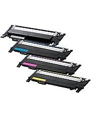 ShopCartridges® 4PK Toner Combo Set CLT-K407S,CLT-M407S,CLT-C407S,CLT-Y407S Use for Samsung CLP-320 Series,CLP-325 Series,CLX-3180,CLX-3185 Series, CLP-320 Series,CLP-325 Series, CLX-3180, CLX-3185 Series
