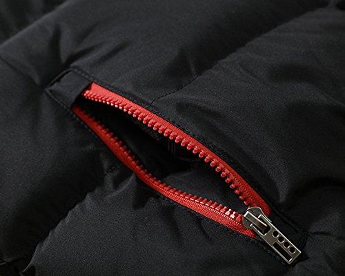 Calor Invierno Chalecos Sin Mangas Capuchado Hombre De Acolchado Negro Chaquetas Cazadoras S5wqdgx