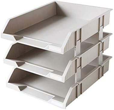 LF-Aktenhalter, mehrschichtiges Gestell, Schreibtisch-Aufbewahrungsbox, Bücherständer, Korb zum Sortieren B