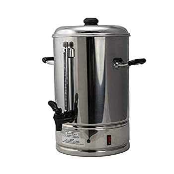 Image of Coffee Urns SYBO CP10 Commercial Grade Stainless Steel Percolate Coffee Maker Hot Water Urn for Catering, 10-Liters, Metallic