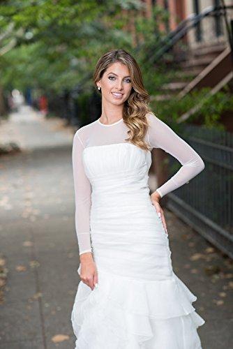 Sheer Mesh Bodysuit wedding dress Bridal Cover up XXL / White by SecondSkinBodysuit (Image #4)
