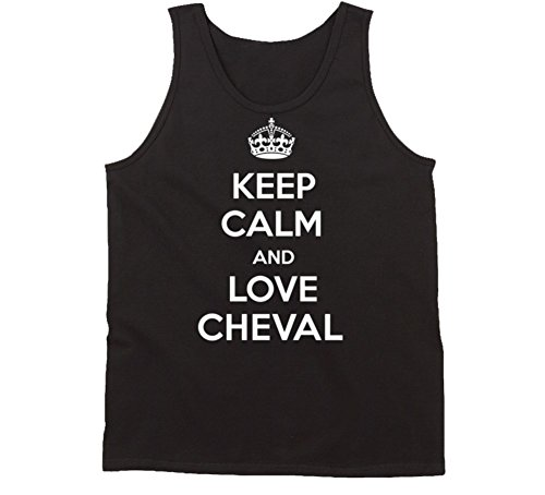 yeoldeshirtshop Keep Calm and Love Cheval Florida City Tanktop M Black Top Cheval