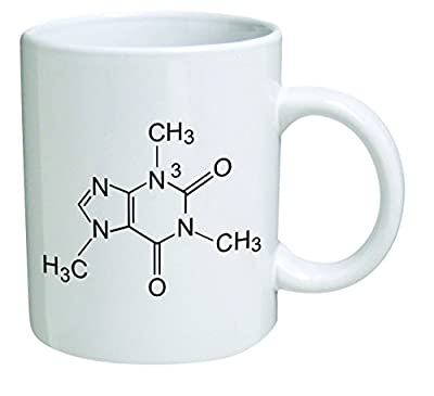 Funny Mug - Caffeine Molecule, Chemistry - 11 OZ Coffee Mugs - Funny Inspirational and sarcasm - By A Mug To Keep TM