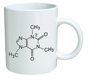 Amazon.com: Funny Mug - Caffeine Molecule, Chemistry - 11 ...
