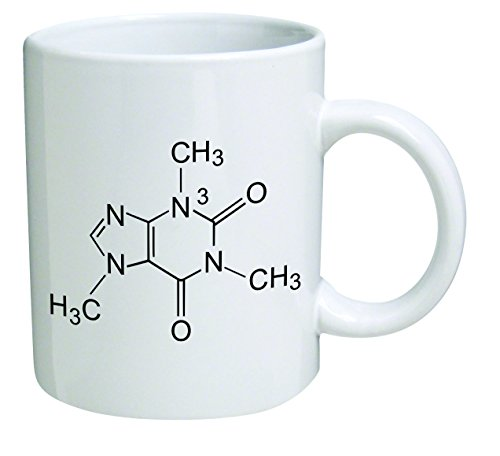 Funny Mug - Caffeine Molecule, Chemistry - 11 OZ Coffee Mugs - Funny Inspirational and sarcasm - By A Mug To Keep - Molecule Mug Caffeine