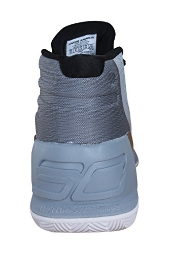 Under Armour UA Curry 3 Hombre Zapatillas Baloncesto Aluminio/Negro