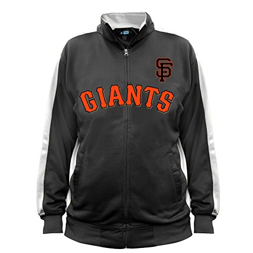 MLB San Francisco Giants Men's Big & Tall Track Jacket, 2X/Tall, Black/White (San Francisco Giants Jacket)