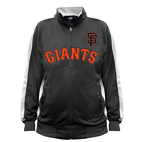 MLB San Francisco Giants Men's Big & Tall Track Jacket, 2X/Tall, Black/White (Jacket Giants San Francisco)