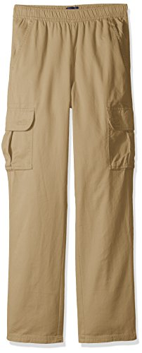 The Children's Place Big Boys' Pull-on Cargo Pant, Flax, 16H by The Children's Place