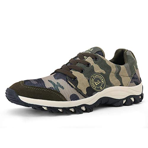 Giles Jones Women Hiking Shoes Camouflage Rubber Sole Non-Slip Couples Climbing Shoes by Giles Jones