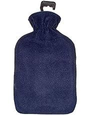 Cassandra varmvattenflaska med vanligt färgat fleecefoder, 1,8 L