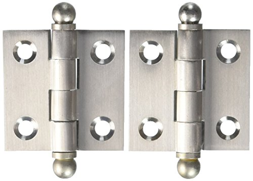 lid Brass 1-1/2-Inch x 1-1/2-Inch Cabinet Hinge with Ball Tips (Brass Ball Tip)