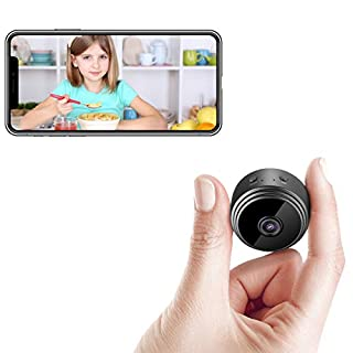 Mini Hidden Camera Wireless WiFi Cameras/HD 1080P Portable Security Cameras Nanny Cam/with 32GB SD Card/Phone App/Night Vision/Motion Detection Alerts/Instant Push Notifications/Remote Playback