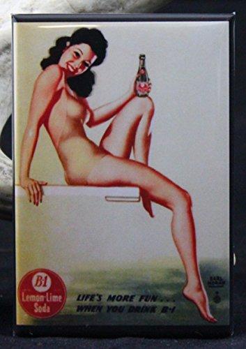 B1 Soda Pinup Girl Refrigerator Magnet.