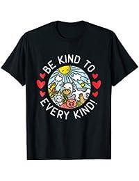 Vegan Vegetarian Shirt | Pro Vegan T-Shirt With Farm Animals