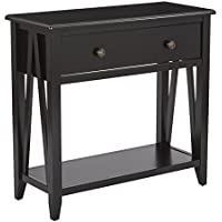 OSP Designs Santa Cruz Foyer Table, Black
