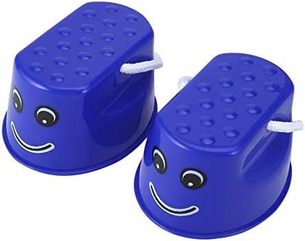 Opinión sobre Divertidos Niños de Plástico Niños Diversión Al Aire Libre Paseo Stilt Jump Smile Face Patrón Deportes Balance Training Toy Mejor Regalo