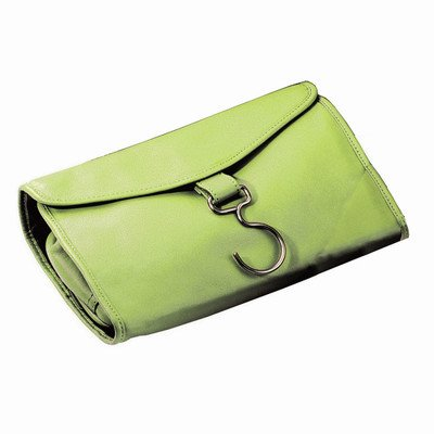 Royce Leather Hanging Toiletry Travel Bag in Genuine Leather Color: Key Lime Green by Royce Leather