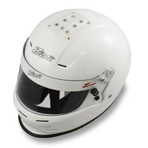 Zamp RZ-34Y Helmet (White, Medium) - Kart Racing Helmets