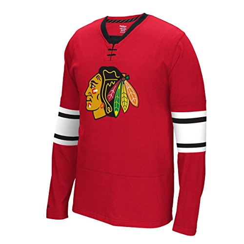 Chicago Blackhawks Red Long Sleeve Faceoff Jersey T-Shirt Small ()