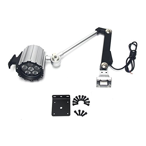 Wisamic LED Work Light for Lathe, CNC Milling Machine, Drilling Machine, Aluminum Alloy, 12W 110V-220V, Adjustable Multipurpose Worklight, Long Arm by WISAMIC (Image #6)