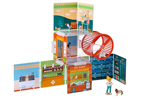 Wonderhood Pet Place - Customizable Design, Building and Play Set - Best Gift for Creativity, Learning and Fun -