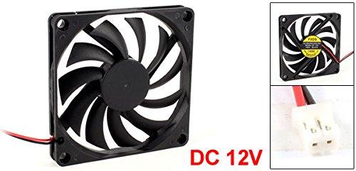 DC12V 2Pins IDE Conector PC ordenador Brushless Ventilador Enfriador 80x80x10mm