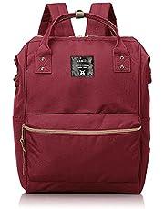 حقيبة أنيلو جلد صناعي متوسطة مقاومة للماء للأطفال ، حقيبة ظهر متعددة الوظائف للسفر ، حقيبة رضاعة ، حقيبة عصرية للأم - أحمر داكن