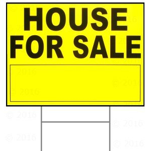 18 x 24 House for Sale Sign w/ H Stake