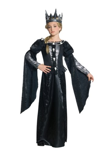 Evil Witch Costumes (Snow White and The Huntsman Deluxe Ravenna Skull Dress Tween Costume - Medium)