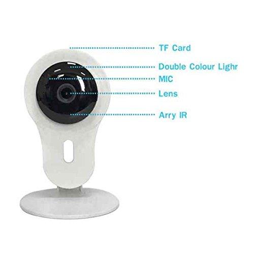 Sanza hilos cámara de seguridad, sensor PIR, grabación video, IP Camera Wifi IR, Easy Setup, Domótica de remoto, la camera de detector de movimiento ...