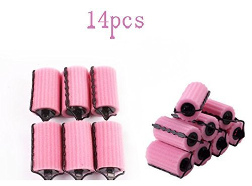 JFFKLS 14pcs  Hair Care Roller Style Sponge Curler Does Not Hurt Hair , Hair Rollers Rolls Styling Curler Tools Foam Self Lock Holder Bun, Easy DIY Natural Way Curly sold by JFFKLS