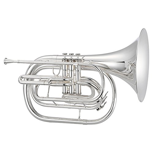 Jupiter JHR1000M Qualifier Series Bb Marching French Horn Silver by Jupiter