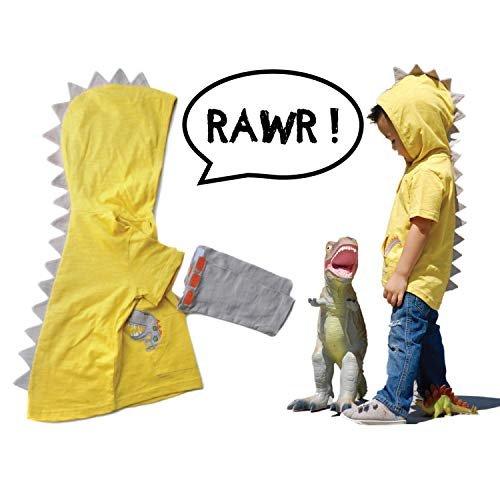 T-Rex Dino Toddler Hoodie with Removable Sleeves (4 yrs) ()