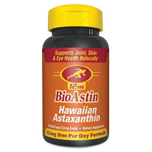 BioAstin Hawaiian Astaxanthin 12mg, 50 Count – Hawaiian Grown Premium Antioxidant – One per day – Sports Nutrition…