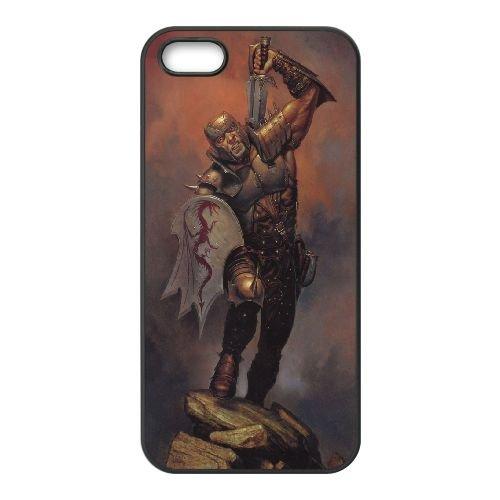 Dungeons Dragons 3333 coque iPhone 5 5S Housse téléphone Noir de couverture de cas coque EOKXLLNCD18163